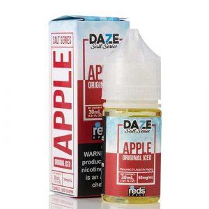 iced apple reds salts 7daze
