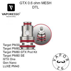 vaporesso gtx 0.6ohm mesh coil pakistan
